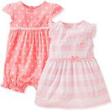 Carter's Baby Girls' 2-Pack Romper & Dress Set