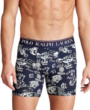 Polo Ralph Lauren Men's Signature-Print Stretch Boxer Briefs