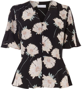 Warehouse Floral Peplum Top