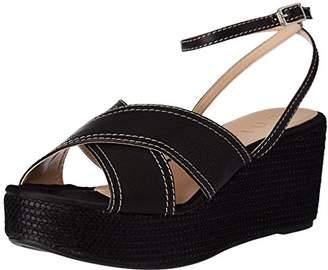 Unisa KERB_ST, Women's Platform Sandals, Black, (37 EU)