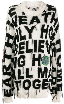 Stella McCartney Oversized Slogan Jumper