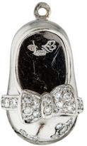 Aaron Basha Platinum & Diamond Flower Baby Shoe
