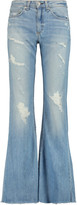 Rag & Bone Beach mid-rise distressed flared jeans