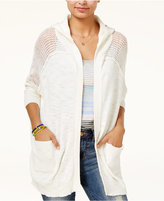 Roxy Juniors' Cotton When We Go Hooded Cardigan
