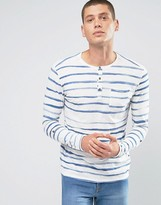 Jack and Jones Striped Grandad Top