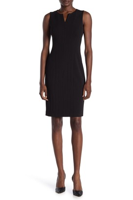 Calvin Klein Split V-Neck Sheath Dress