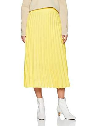 New Look Women's Pleated Midi 6065306 Skirt,(Manufacturer Size:)