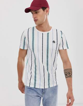 Tom Tailor t-shirt with vertical stripe in white