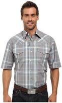 Stetson Mineral Plaid Short Sleeve Woven Snap Shirt