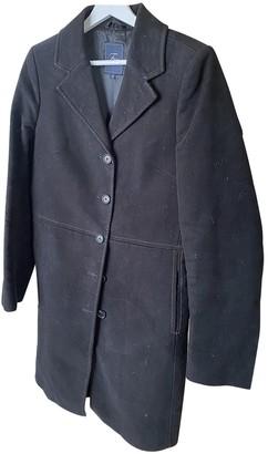 Fay Black Velvet Coat for Women
