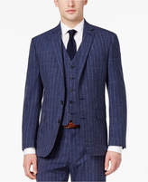 Ryan Seacrest Distinction Men's Slim-Fit Blue Chalk Stripe Suit Jacket, Created for Macy's