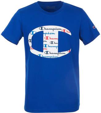 Champion Toddler Boys C Logo with Script Fill T-Shirt