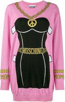 Moschino bustier intarsia knitted dress - women - Cotton - S