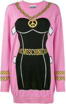 Moschino bustier intarsia knitted dress