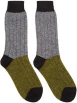 Haider Ackermann Grey & Khaki Alpaca Socks