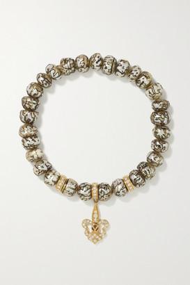 Loree Rodkin Fleur-de-lis 14-karat Gold, Pearl And Diamond Bracelet