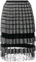 Ermanno Scervino pleated metallic skirt