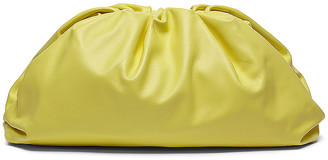 Bottega Veneta Large Pouch Clutch in Sherbet & Silver | FWRD