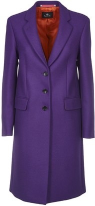 Paul Smith Wool And Cashmere Cioat In Purple Color