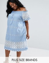 Alice & You Embroidered Bardot Dress