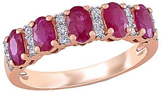 Rina Limor Fine Jewelry 14K Rose Gold 1.56 Ct. Tw. Diamond & Ruby Ring