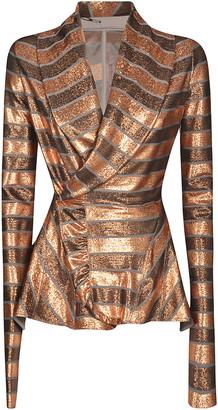 Rick Owens Lilies Stripe Wrap Jacket