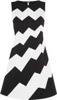Karen Millen Zig-zag Dress - Black & Ivory
