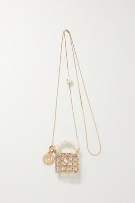 Rosantica Baby Holli Mini Embellished Gold-tone Shoulder Bag