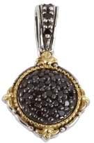 Konstantino Sterling Silver & 18K Gold Round Black Diamond Pendant - 0.39 ctw