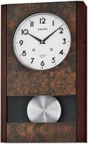 Seiko Wall Clock With Pendulum Brown Qxm359blh