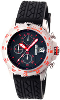 Breed Stainless Steel & Red Socrates Chronograph Watch