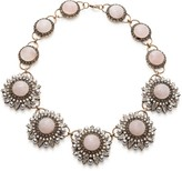 Sole Society Pearl And Stone Deco Statement Necklace