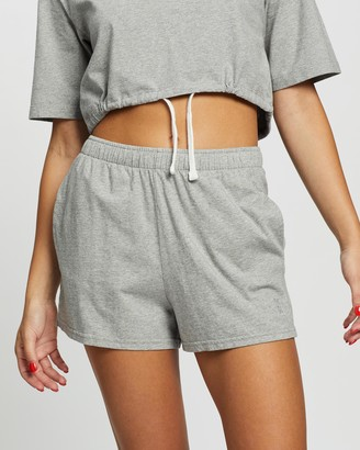 Les Girls Les Boys Women's Grey High-Waisted - Jersey Apparel Loose Shorts - Size XS at The Iconic