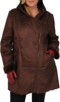 JCPenney Excelled Leather Excelled Faux-Shearling 3/4-Length Coat - Plus