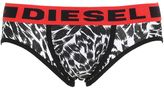 Diesel Leopard Print Stretch Cotton Briefs