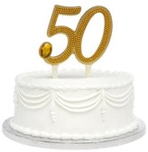 Hortense B. Hewitt 50th Anniversary Cake Topper- Gold