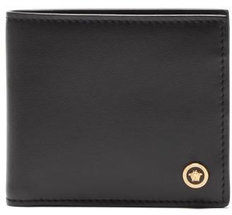 Versace Medusa Head Leather Bi-fold Wallet - Mens - Black