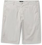 Theory Zaine Slim-fit Stretch-cotton Twill Shorts - Off-white