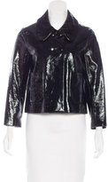 3.1 Phillip Lim Patent Leather Cropped Jacket
