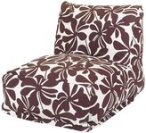 Majestic Home Goods Plantation Bean Bag Chair Lounger, Chocolate