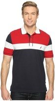 Nautica Short Sleeve Color Blocked Polo Men's Short Sleeve Pullover