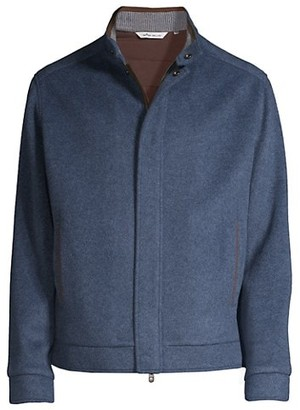 Peter Millar Crown Wool Fleece Bomber Jacket