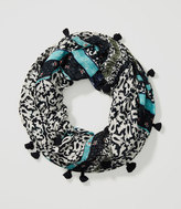 LOFT Floral Mosaic Infinity Scarf