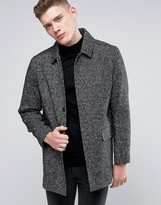 NATIVE YOUTH Wool Twill Overcoat