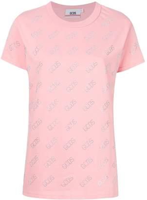 GCDS embellished logo T-shirt