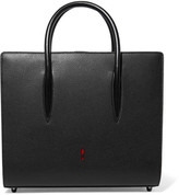 Christian Louboutin Paloma Medium Spiked Matte And Patent-leather Tote - Black