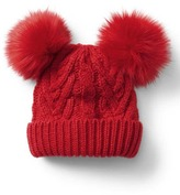 Gap Cable knit pom-pom beanie