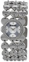 Versus By Versace Women's 3C69600000 Paillettes Stainless Steel Silver Dial Crystal Bezel Bracelet Watch
