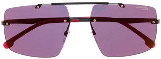 Carrera Rectangular Double Nose Bridge Sunglasses