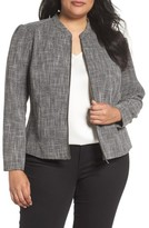 Sejour Plus Size Women's Fitted Tweed Jacket